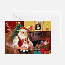 Santa's JRT pup Greeting Card