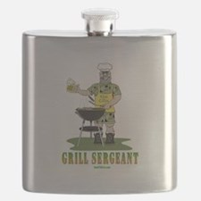 Grill Sergeant Funny Dad Flask
