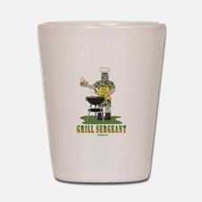 Grill Sergeant Funny Dad Shot Glass
