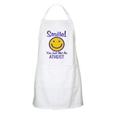 Atheist Smiley BBQ Apron