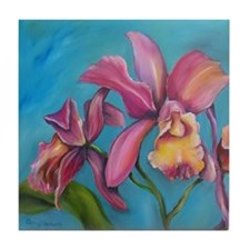 Pink Orchid Tile Coaster