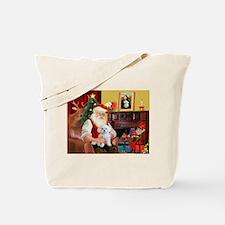 Santa's Maltese (#11) Tote Bag