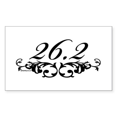 26.2 Floral Sticker (Rectangle)