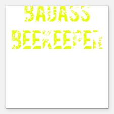 "Beekeeper TShirt Sticker Square Car Magnet 3"" x 3"""