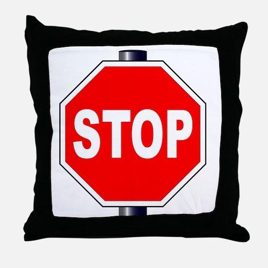 Cute Stop sign Throw Pillow