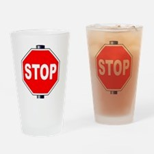 Cute Traffic sign Drinking Glass