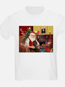 Santa Min Poodle (b) T-Shirt