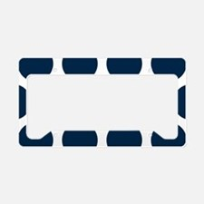 Blue, Navy: Polka Dots Patter License Plate Holder