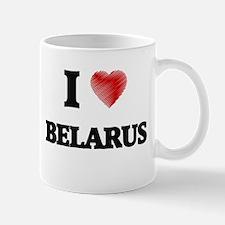 I Love Belarus Mugs