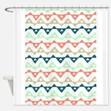 Cute Contemporary powder blue and mint green butterfly Shower Curtain
