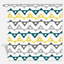Navy Blue And Yellow Shower Curtains Navy Blue And Yellow Fabric Shower Cur