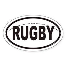 RUGBY Euro Oval Sticker with Stitching on Ball