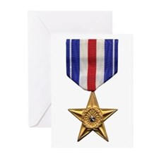 Silver Star Greeting Cards (Pk of 10)