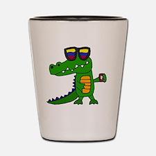 Cute Gators t Shot Glass