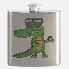 Cute Gator Flask