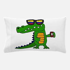 Alligator in Sunglasses Pillow Case
