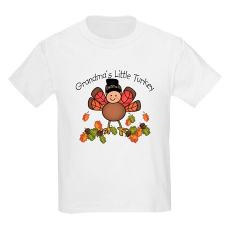 Grandma's Lil Turkey Kids Light T-Shirt