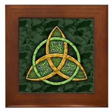 Celtic Trinity Knot Framed Tile