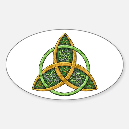 Celtic Trinity Knot Oval Bumper Stickers