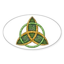 Celtic Trinity Knot Oval Decal