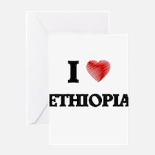I Love Ethiopia Greeting Cards
