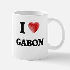 I Love Gabon Mugs