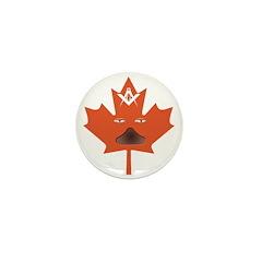 Halloween Maple Leaf Mini Button (100 pack)