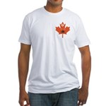 Halloween Maple Leaf Fitted T-Shirt