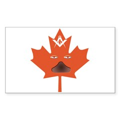 Halloween Maple Leaf Rectangle Decal