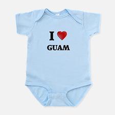 I Love Guam Body Suit