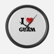 I Love Guam Large Wall Clock