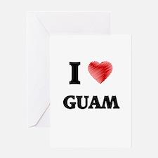 I Love Guam Greeting Cards