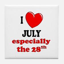 July 28th Tile Coaster
