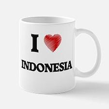 I Love Indonesia Mugs