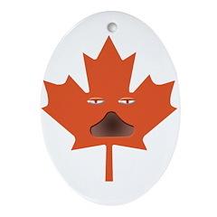 Halloween Maple Leaf Oval Ornament