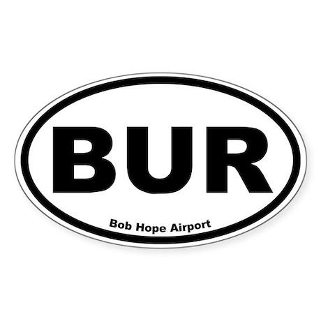 Bob Hope Airport Oval Sticker