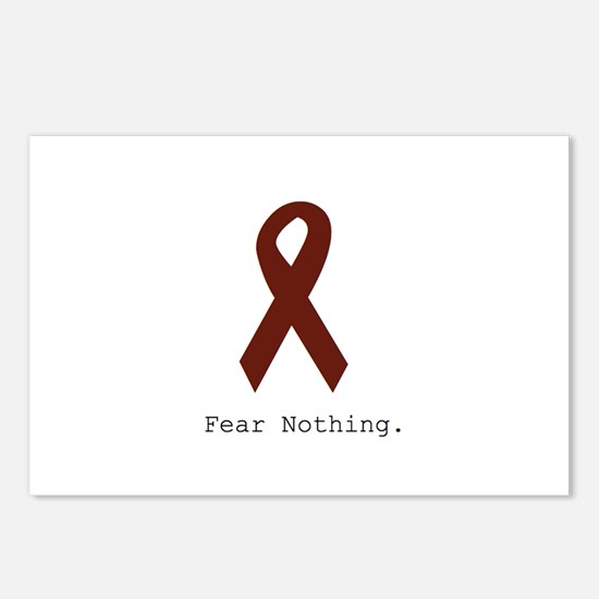 Burgundy. Fear Nothing Postcards (Package of 8)