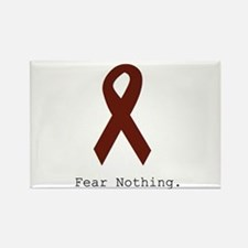 Burgundy. Fear Nothing Magnets