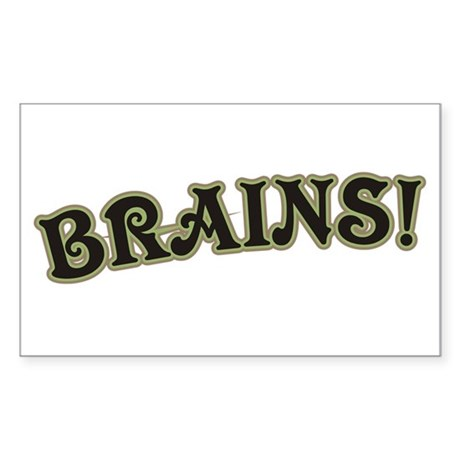 Brains! Rectangle Sticker