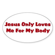 Anti-Religion Jesus Shirt Oval Decal