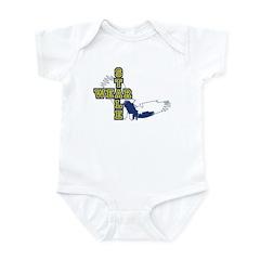 stalewear varsity blues Infant Bodysuit