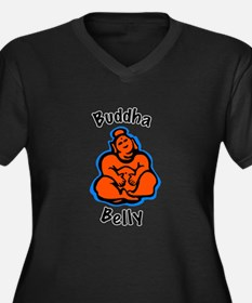 Buddha Belly Women's Plus Size V-Neck Dark T-Shirt