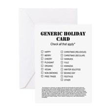 Generic Holiday Greetings Greeting Card