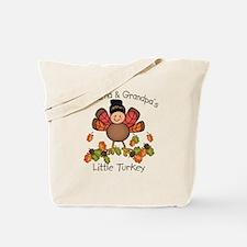 Grandma & Grandpa's Lil Turkey Tote Bag