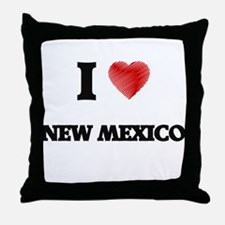 I Love New Mexico Throw Pillow