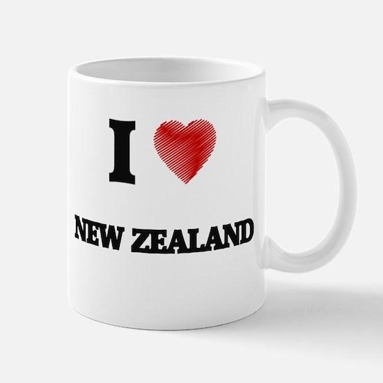 I Love New Zealand Mugs