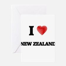 I Love New Zealand Greeting Cards
