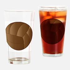 Cute Soccer ball art Drinking Glass