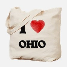 Unique I love ohio Tote Bag