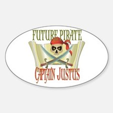Captain Justus Oval Decal